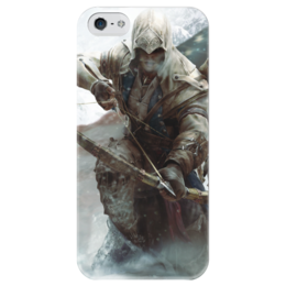 """Чехол для iPhone 5 глянцевый, с полной запечаткой """"Assassin's Creed"""" - игры, assassin's creed"""