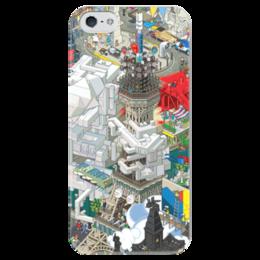 """Чехол для iPhone 5 глянцевый, с полной запечаткой """"Париж"""" - париж, paris"""