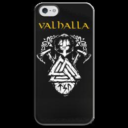 """Чехол для iPhone 5 глянцевый, с полной запечаткой """"Вальхалла. Путь воина"""" - свобода, история, викинги, вальхалла, путь воина"""