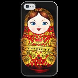 """Чехол для iPhone 5 глянцевый, с полной запечаткой """"Матрешка"""" - матрешка, кукла, россия, russia"""
