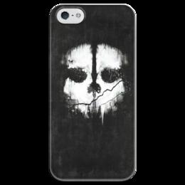 "Чехол для iPhone 5 глянцевый, с полной запечаткой ""Call of Duty: Ghosts"" - call of duty, шутер, ghosts, логан уокер, легенда о призраках"