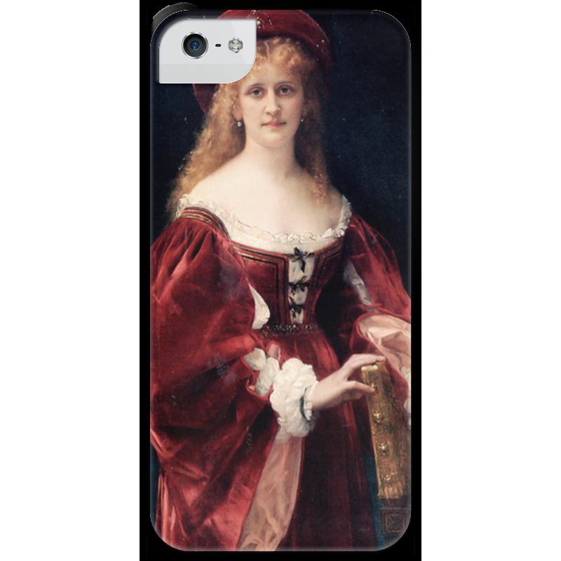 Чехол для iPhone 5 с подставкой, с полной запечаткой Printio Портрет аристократки из венеции чехол для iphone 5 с подставкой с полной запечаткой printio паж картина кабанеля