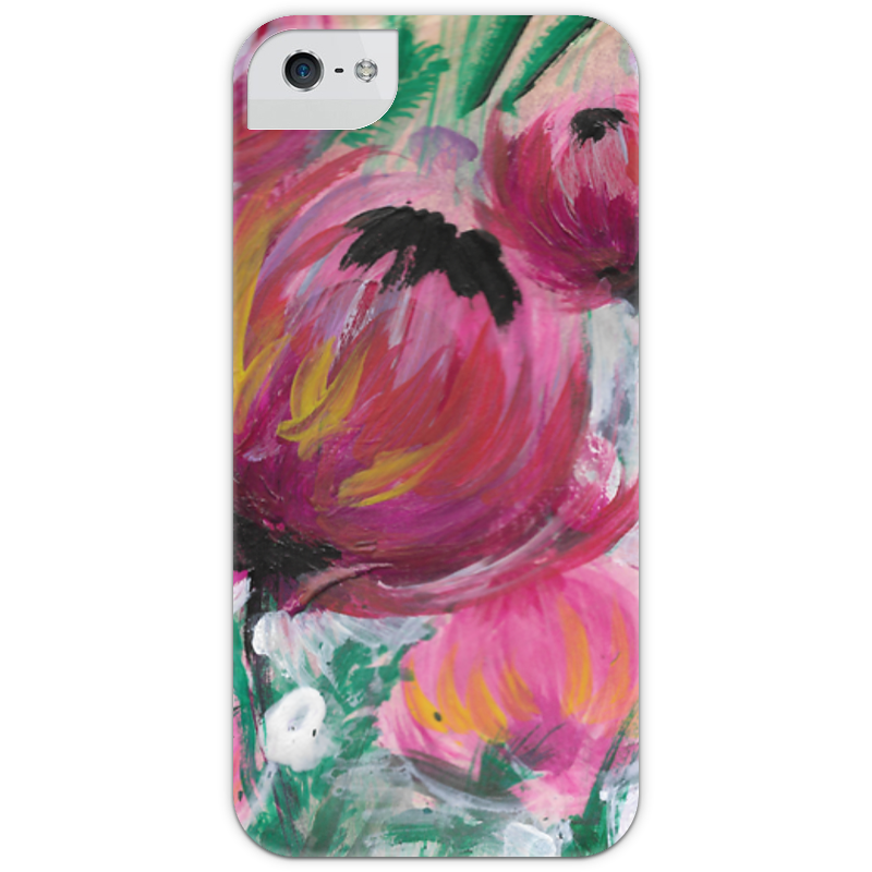 Чехол для iPhone 5 с подставкой, с полной запечаткой Printio Полевые цветы st баллон для автоматического освежителя воздуха полевые цветы 39 мл