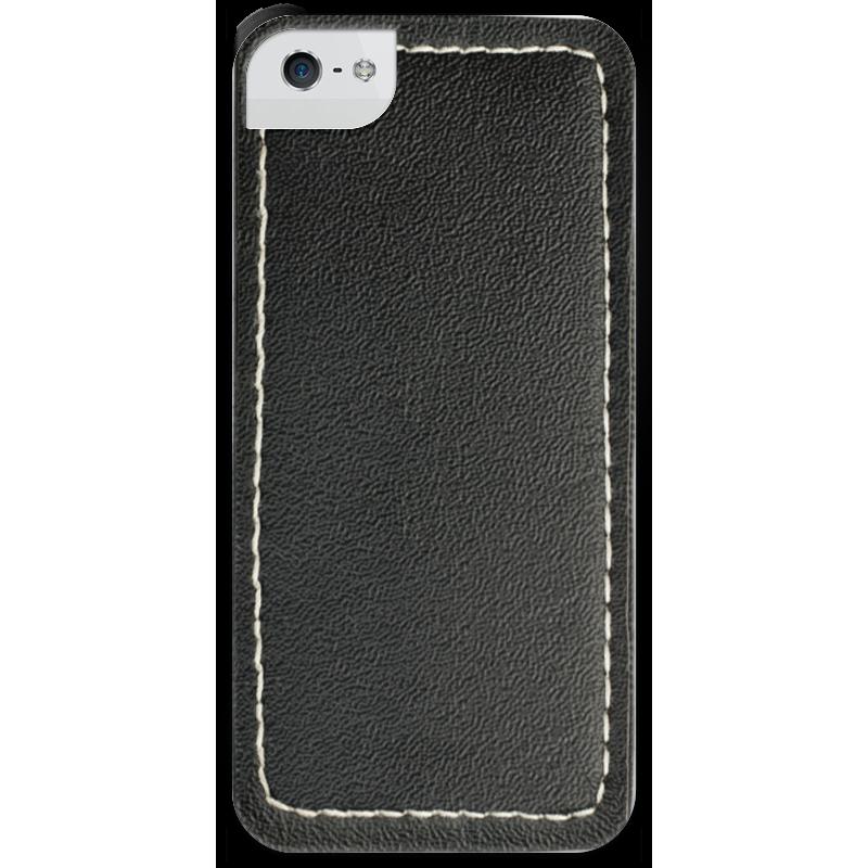 Чехол для iPhone 5 с подставкой, с полной запечаткой Printio Кожа с прошивкой solo1 с