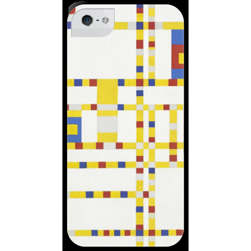 Чехол для iPhone 5 с подставкой, с полной запечаткой Printio Бродвей буги-вуги (питер мондриан) чехол для samsung galaxy s5 printio бродвей буги вуги питер мондриан