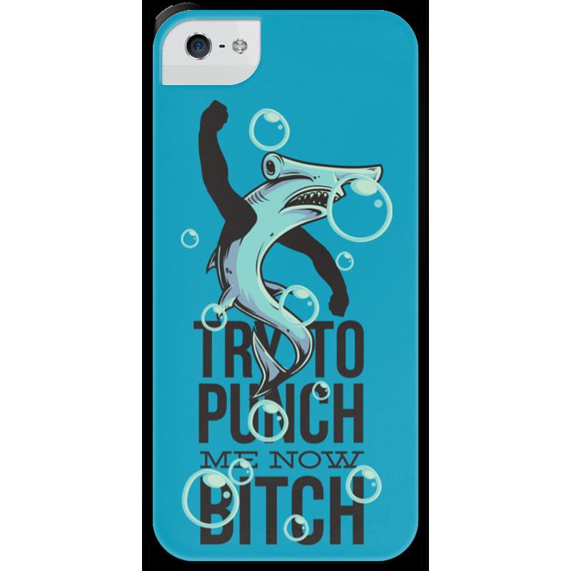 Чехол для iPhone 5 с подставкой, с полной запечаткой Printio Акула серова м клад белой акулы