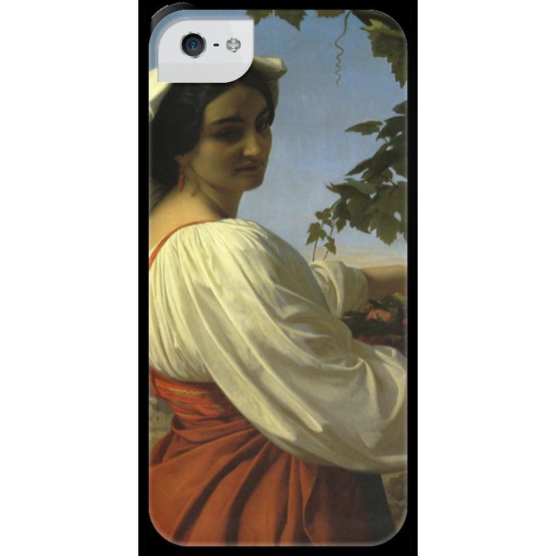 Чехол для iPhone 5 с подставкой, с полной запечаткой Printio Портрет итальянки (la chiarrucia) чехол для iphone 5 с подставкой с полной запечаткой printio паж картина кабанеля