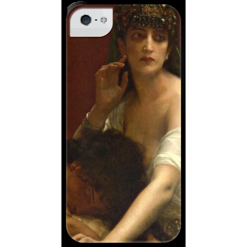Чехол для iPhone 5 с подставкой, с полной запечаткой Printio Самсон и далила (картина кабанеля) чехол для iphone 5 с подставкой с полной запечаткой printio паж картина кабанеля