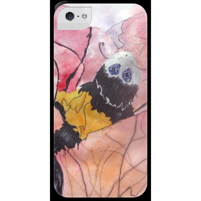 Чехол для iPhone 5 с подставкой, с полной запечаткой Printio Шмель