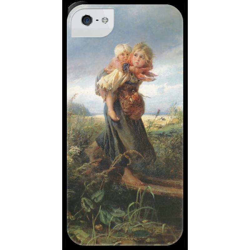 Чехол для iPhone 5 с подставкой, с полной запечаткой Printio Дети, бегущие от грозы (константин маковский) торт printio набережная в крыму константин коровин