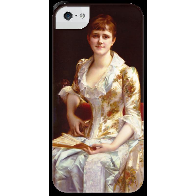 Чехол для iPhone 5 с подставкой, с полной запечаткой Printio Портрет молодой леди чехол для iphone 5 с подставкой с полной запечаткой printio паж картина кабанеля