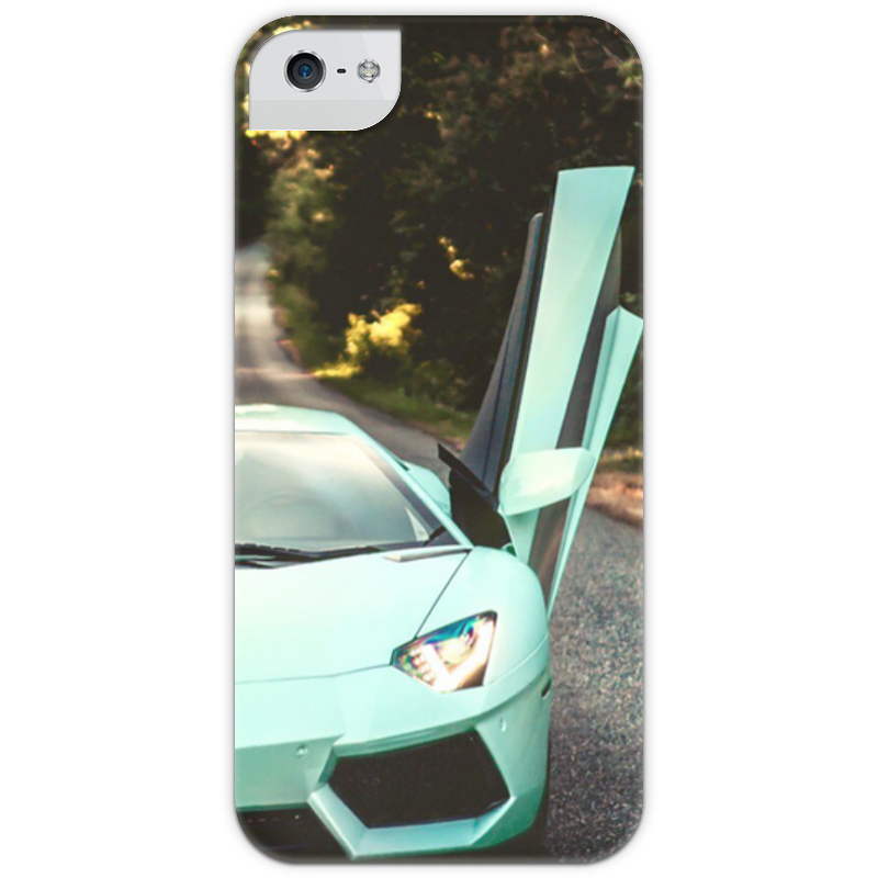 Чехол для iPhone 5 с подставкой, с полной запечаткой Printio Lamborghini