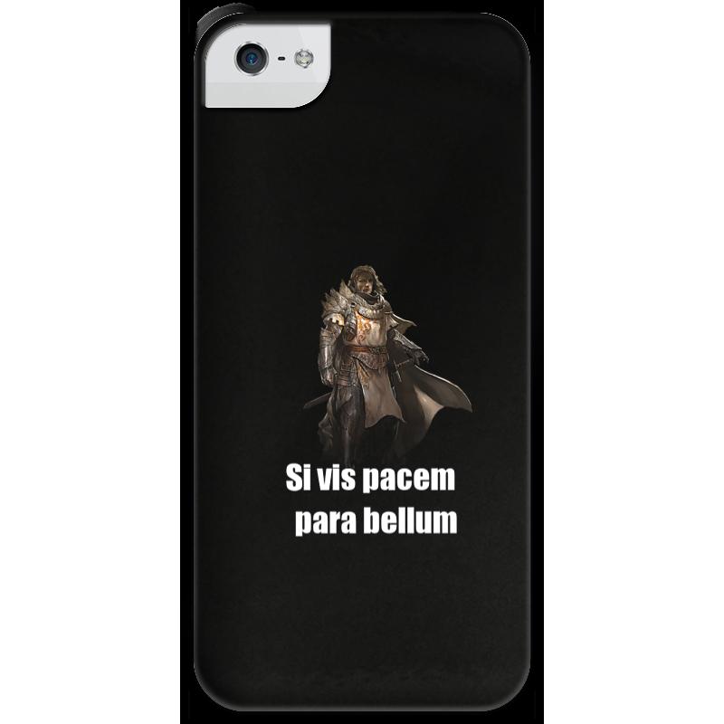 Чехол для iPhone 5 с подставкой, с полной запечаткой Printio Хочешь мира - готовься к войне чехол для samsung galaxy note 2 printio хочешь мира готовься к войне