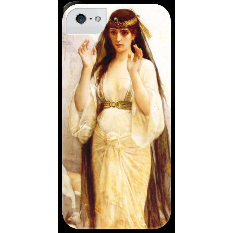 Чехол для iPhone 5 с подставкой, с полной запечаткой Printio Дочь иеффая (картина кабанеля) чехол для iphone 5 с подставкой с полной запечаткой printio паж картина кабанеля