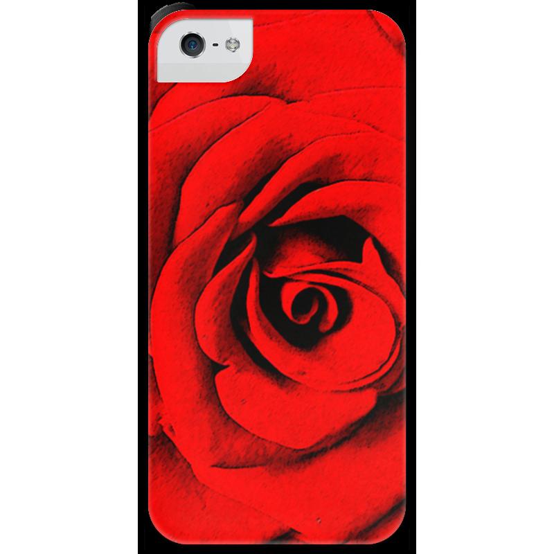 Чехол для iPhone 5 с подставкой, с полной запечаткой Printio Красная роза 3d головоломка роза красная 90113