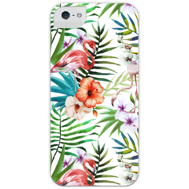 Чехол для iPhone 5 с подставкой, с полной запечаткой Printio Фламинго чехол для карточек фламинго и ананас с усами дк2017 101