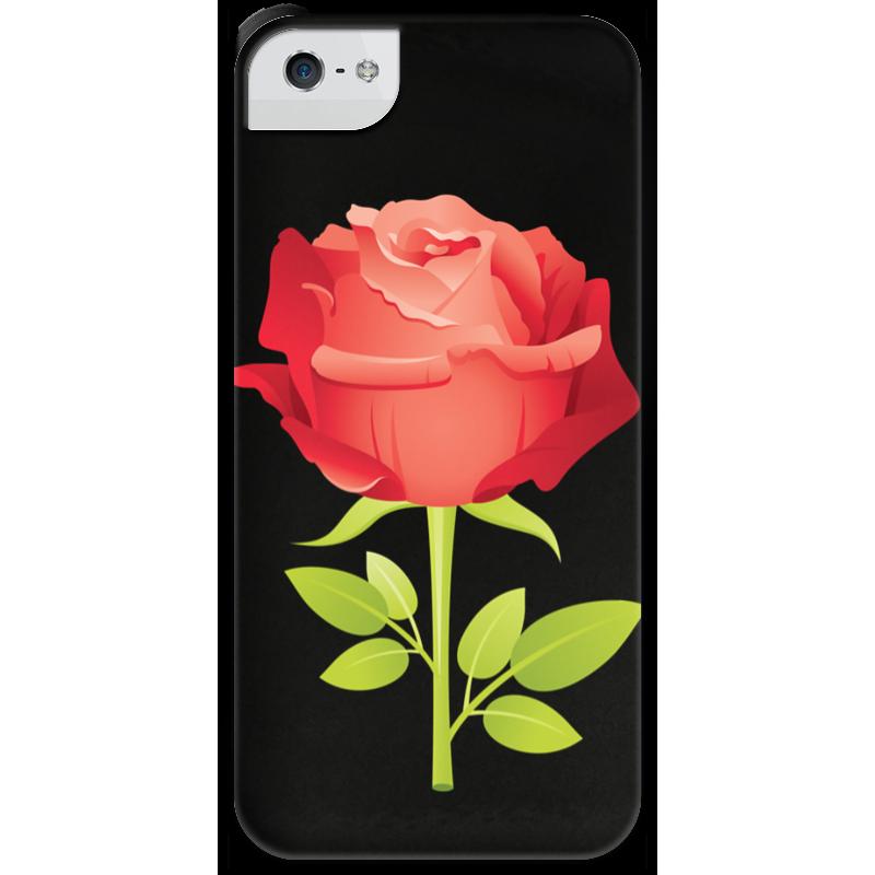Чехол для iPhone 5 с подставкой, с полной запечаткой Printio Розочка