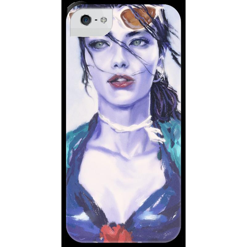 Чехол для iPhone 5 с подставкой, с полной запечаткой Printio Overwatch: widowmaker