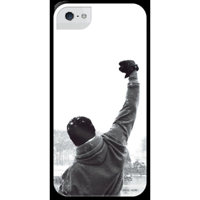 Чехол для iPhone 5 с подставкой, с полной запечаткой Printio Рокки чехол для iphone 5 с подставкой с полной запечаткой printio интернет