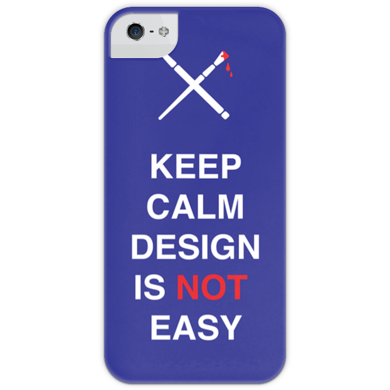 Чехол для iPhone 5 с подставкой, с полной запечаткой Printio Keep calm design is not easy. тетрадь на пружине printio keep calm design is not easy