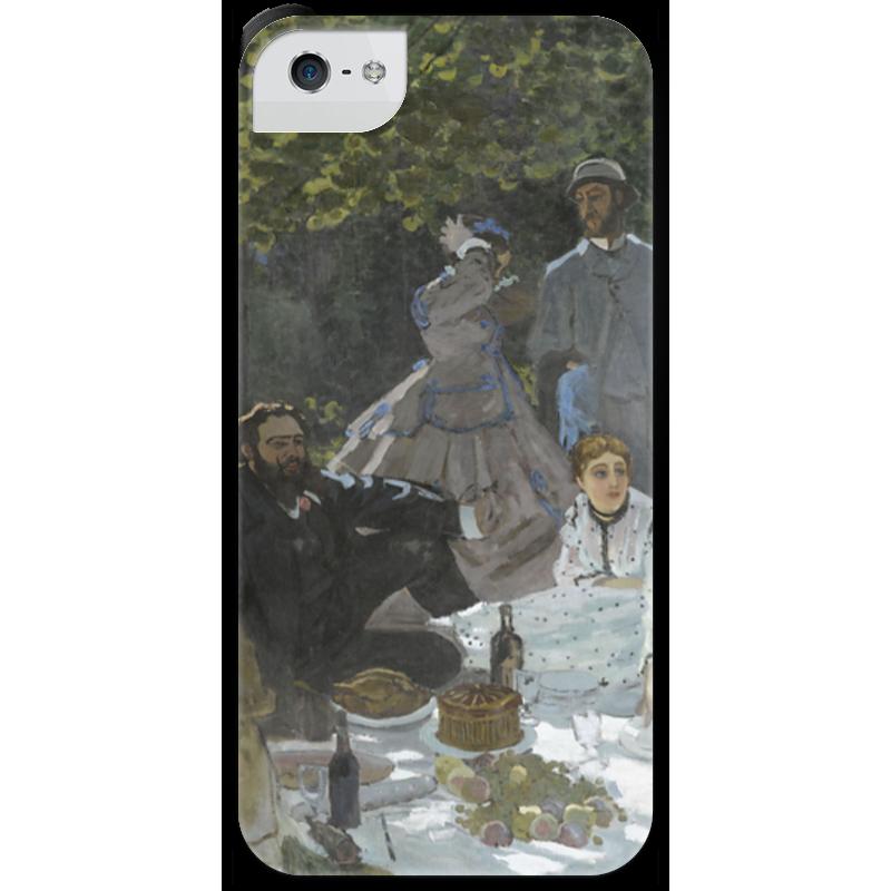 Чехол для iPhone 5 с подставкой, с полной запечаткой Printio Завтрак на траве (клод моне) 1866 пазл 73 5 x 48 8 1000 элементов printio сад художника в аржантее клод моне