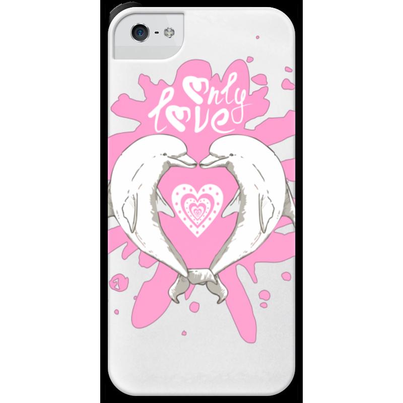 Чехол для iPhone 5 с подставкой, с полной запечаткой Printio Влюбленные дельфины чехол для iphone 5 глянцевый с полной запечаткой printio влюбленные пьер огюст ренуар