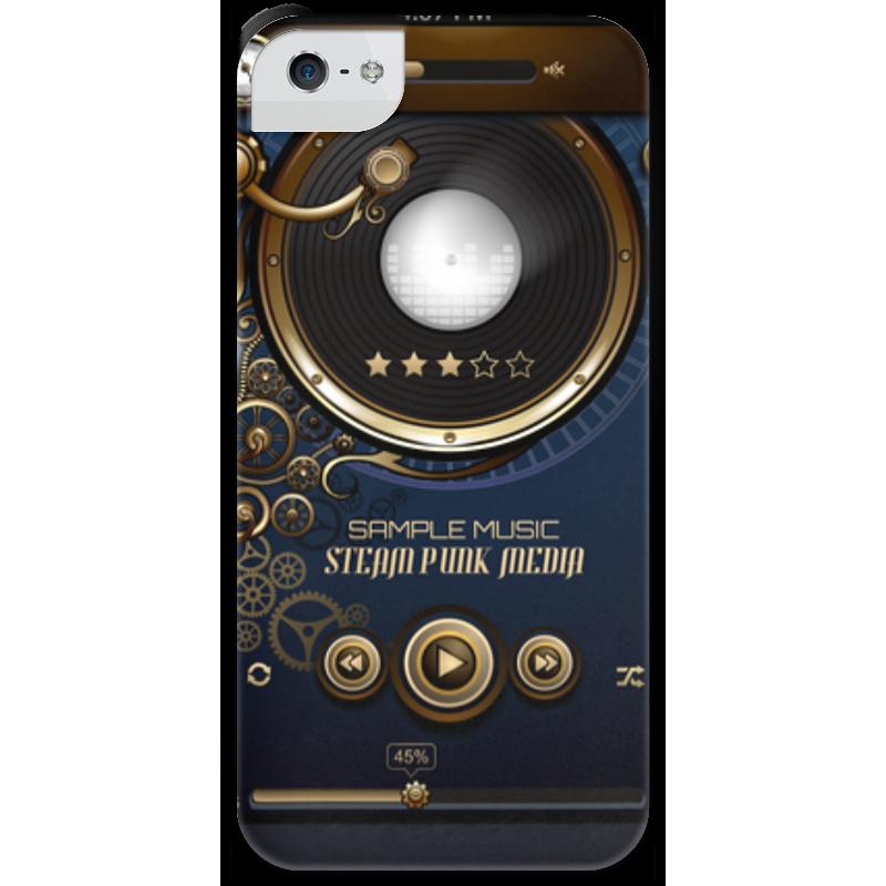 Чехол для iPhone 5 с подставкой, с полной запечаткой Printio Стимпанк-музыка