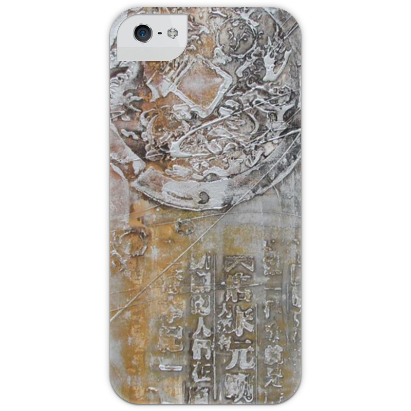 Чехол для iPhone 5 с подставкой, с полной запечаткой Printio Знаки