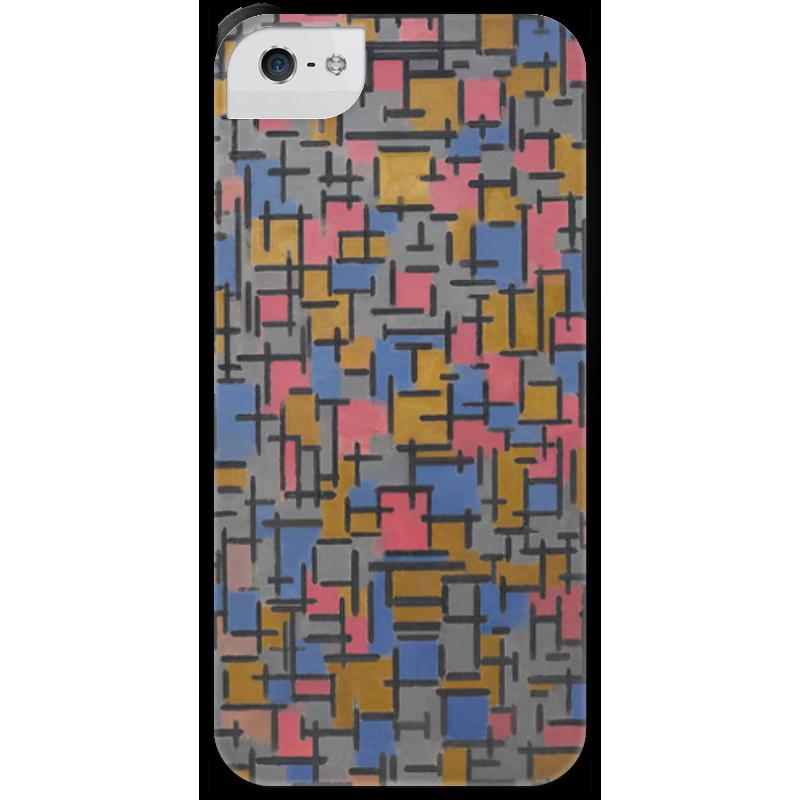 Чехол для iPhone 5 с подставкой, с полной запечаткой Printio Композиция (питер мондриан) чехол для карточек пит мондриан дк2017 110