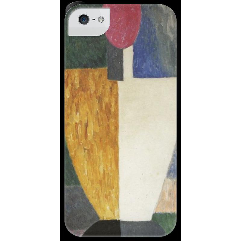Чехол для iPhone 5 с подставкой, с полной запечаткой Printio Торс (фигура с розовым лицом) (малевич) чехол для samsung galaxy s5 printio торс фигура с розовым лицом малевич