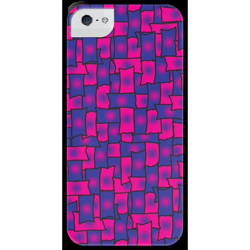 Чехол для iPhone 5 с подставкой, с полной запечаткой Printio Прямоугольники solo1 с