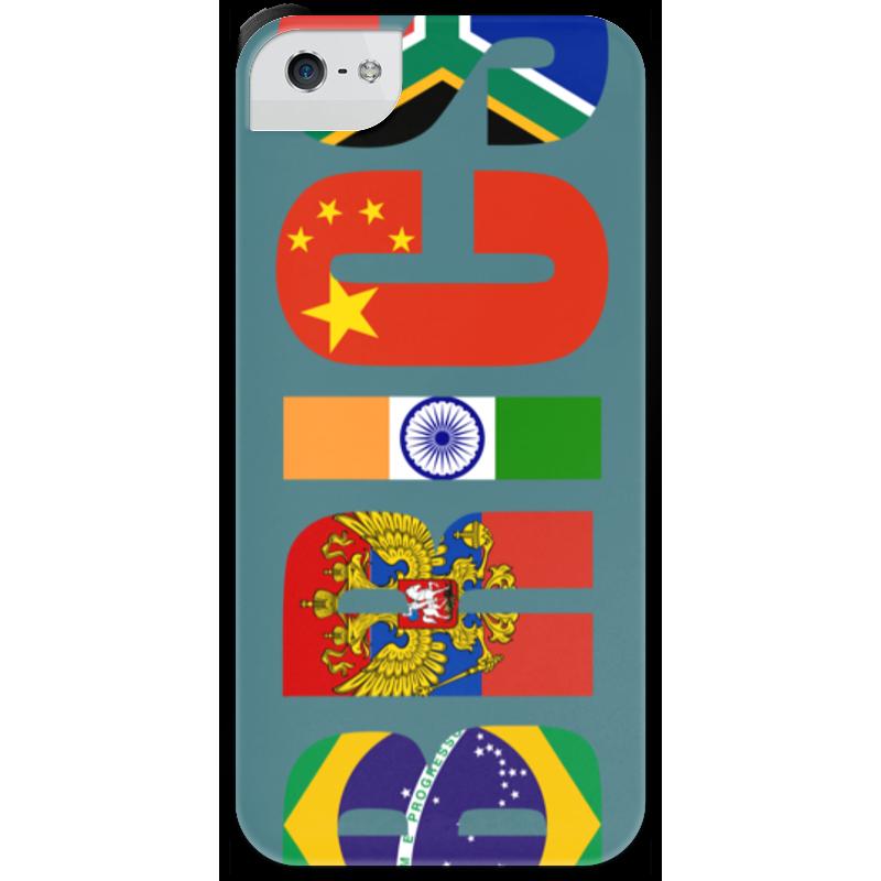 Чехол для iPhone 5 с подставкой, с полной запечаткой Printio Brics - брикс чехол twelve south bookbook для iphone 5 в спб