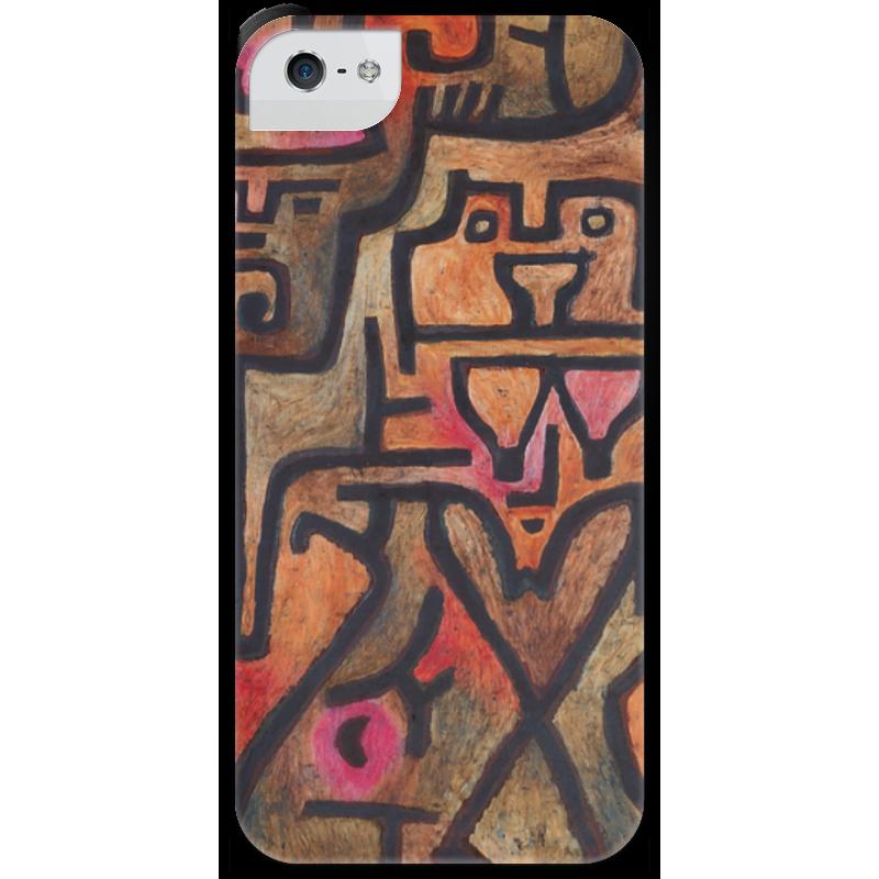 Чехол для iPhone 5 с подставкой, с полной запечаткой Printio Лесные ведьмы (пауль клее) чехол для samsung galaxy s5 printio лесные ведьмы пауль клее