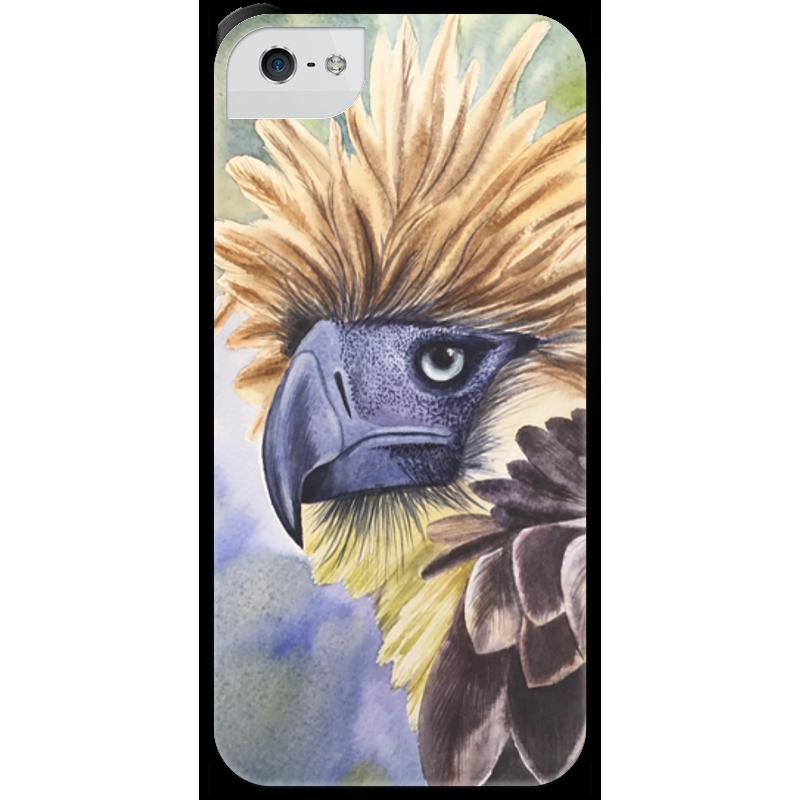 Чехол для iPhone 5 с подставкой, с полной запечаткой Printio Филиппинский орел чехол для iphone 7 глянцевый printio филиппинский орел