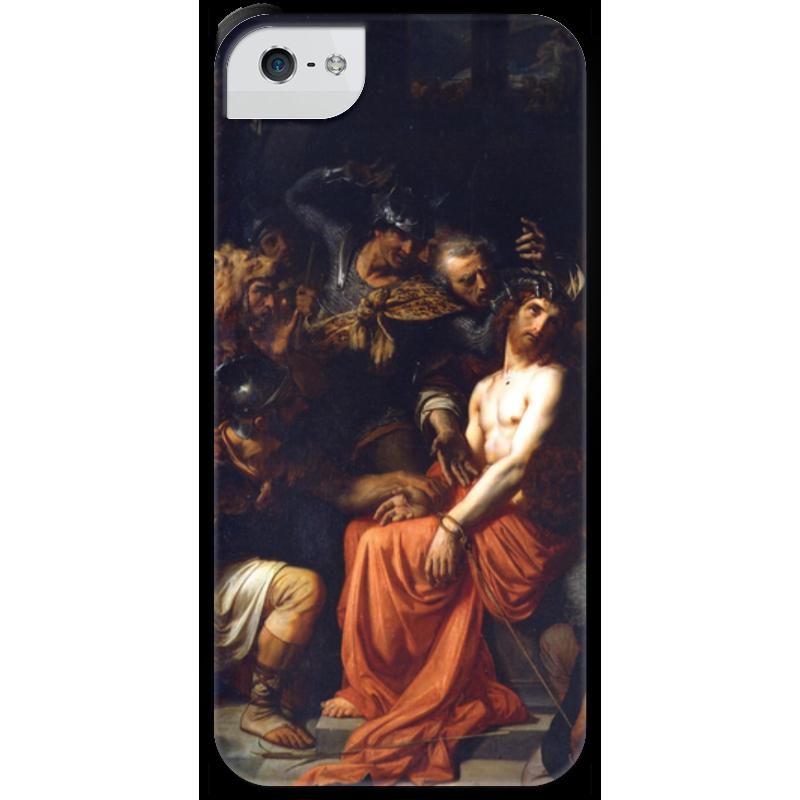 Чехол для iPhone 5 с подставкой, с полной запечаткой Printio Поругание христа (картина кабанеля) чехол для iphone 5 с подставкой с полной запечаткой printio паж картина кабанеля