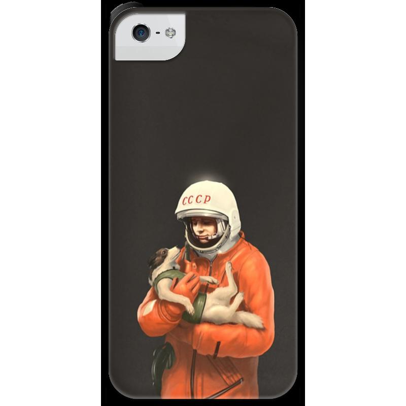 Чехол для iPhone 5 с подставкой, с полной запечаткой Printio Ссср космонавт сирин л 1991 измена родине кремль против ссср