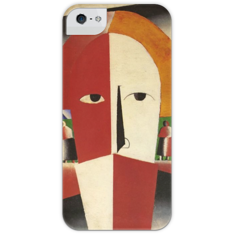 Чехол для iPhone 5 с подставкой, с полной запечаткой Printio Голова крестьянина (казимир малевич)