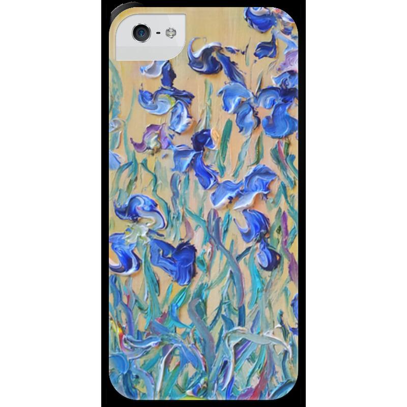 Чехол для iPhone 5 с подставкой, с полной запечаткой Printio Стая бабочек стая