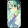 """Чехол для iPhone 5 с подставкой, с полной запечаткой """"Miku Hatsune Sush"""" - аниме, hatsune, мику, бесконечное лето, miku"""