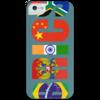 """Чехол для iPhone 5 с подставкой, с полной запечаткой """"BRICS - БРИКС"""" - россия, китай, индия, бразилия, юар"""