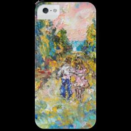 """Чехол для iPhone 5 с подставкой, с полной запечаткой """"Любовь"""" - love, прогулка, двое, свидание"""