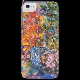 """Чехол для iPhone 5 с подставкой, с полной запечаткой """"Костер"""" - love, fire, костер, я тебя люблю, про любовь, красивая любовь"""