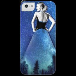 """Чехол для iPhone 5 с подставкой, с полной запечаткой """"Night"""" - blakelively, night"""