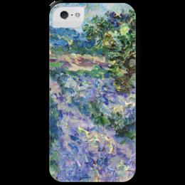 """Чехол для iPhone 5 с подставкой, с полной запечаткой """"Прованс"""" - лето, france, франция, лавандовые поля, provence, lavender"""