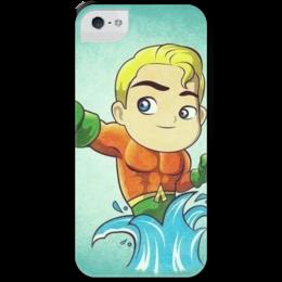 """Чехол для iPhone 5 с подставкой, с полной запечаткой """"Аквамен"""" - marvel, марвел, aquaman, аквамен"""