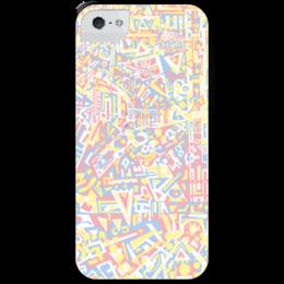 """Чехол для iPhone 5 с подставкой, с полной запечаткой """"plppgtysxxx132"""" - арт, узор, абстракция, фигуры, текстура"""