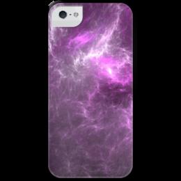 """Чехол для iPhone 5 с подставкой, с полной запечаткой """"Абстрактный дизайн"""" - графика, абстракция, авангард, фрактал, лучи"""