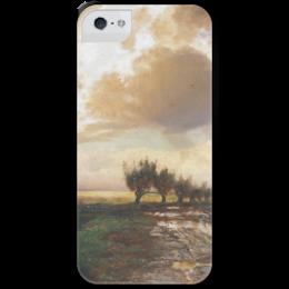 """Чехол для iPhone 5 с подставкой, с полной запечаткой """"Просёлок"""" - картина, саврасов"""