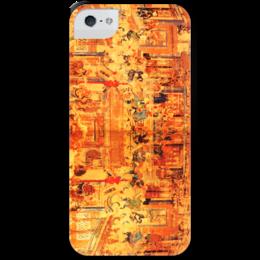 """Чехол для iPhone 5 с подставкой, с полной запечаткой """"Шаолинь"""" - единоборства, кунг фу, ушу, китайские, восточные"""