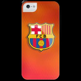 """Чехол для iPhone 5 с подставкой, с полной запечаткой """"Barcelona"""" - футбол, спорт, football, barcelona, барселона, barca"""